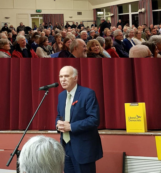 Vince Cable speaks at Claygate