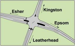 Malden Rushett junction
