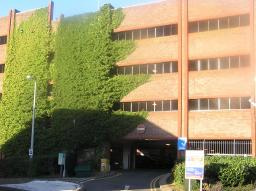 Hook Road car park, Epsom, displaying Park Mark