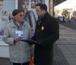 Cllr Jonathan Lees with Blue Badge holder
