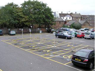 Disabled parking bays in Epsom Town Hall car park