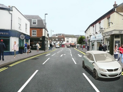 Artist's impression of 2-way South St (Courtesy of Surrey News)
